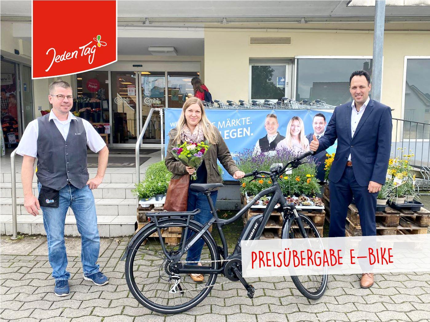 Jeden Tag Preisübergabe E-Bike