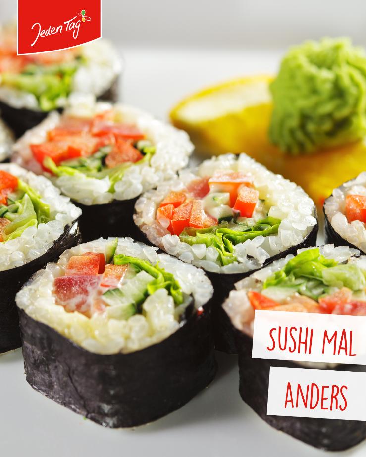 Jeden Tag Rezept-Tipp: Vegetarisches Sushi