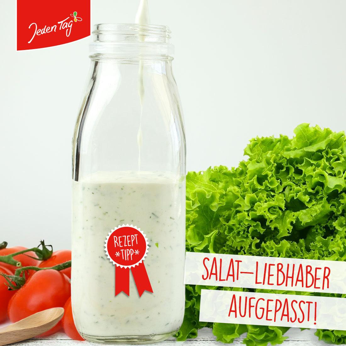 Jeden Tag Rezept-Tipp: Salatsoße auf Vorrat selbst machen